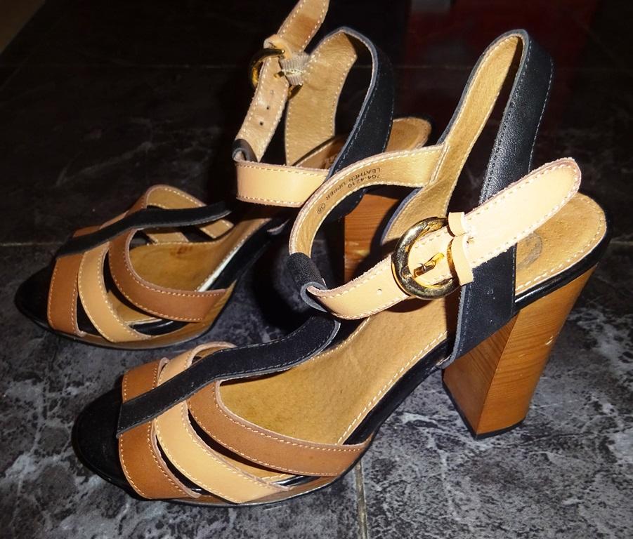 hnědočerné páskové boty vel 38 Bata  2c2068db2b