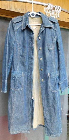 3378514d8654 Riflové šaty s dlouhým rukávem - kabát