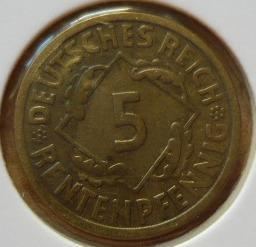 Německo 5 Pf 1924 A