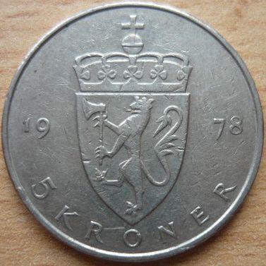 Norsko 5 Kr 1978