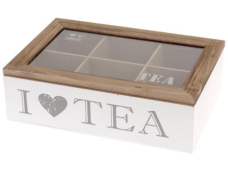 Dřevěný box na čaj - kazeta na čaj  030ad5a6465