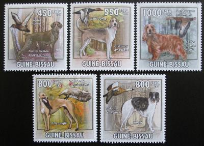 Guinea-Bissau 2009 Lovečtí psi a kachny Mi# 4486-90 Kat 14€ 0076