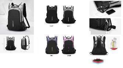 USB Multifunkční batoh na cestování nebo do školy pro laptop unisex