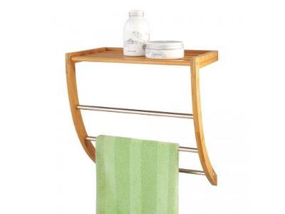 Věšák na ručníky + koupelnová polička, 2 v 1
