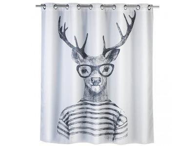 Sprchový závěs Mr Deer, textilní, 180x200 cm