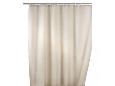 Sprchový závěs, textilní, barva béžová, 180x200 cm