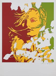 Werner Berges - Portrét ženy - Serigrafie