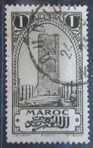 Francouzské Maroko 1923 Věž Hassan v Rabatu Mi# 49 0583