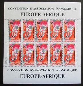 SAR 1966 Spolupráce s Evropou Mi# 123 Bogen Kat 15€ 0587