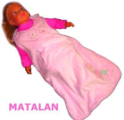 MATALAN růžový kojenecký spací pytel, vel. 0-6 měs.