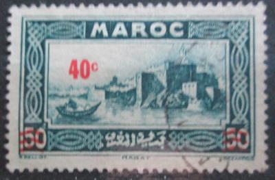 Francouzské Maroko 1939 Pevnost v Rabatu přetisk Mi# 138 0573