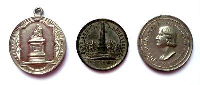 Čechy, 3 cínové medaile 19. stol., originály
