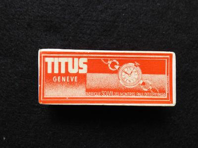 Titus Geneve-originální krabička od hodinek, velice pěkná!