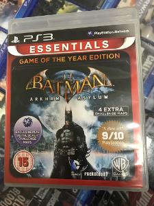 BATMAN ARKHAM ASYLUM : GAME OF THE YEAR ED. - BAZAR ZÁRUKA 2 ROKY  PS3