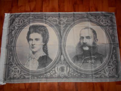 Mega Baner,vlajka Franz Joseph I +Alžběta Bavorská Sissi