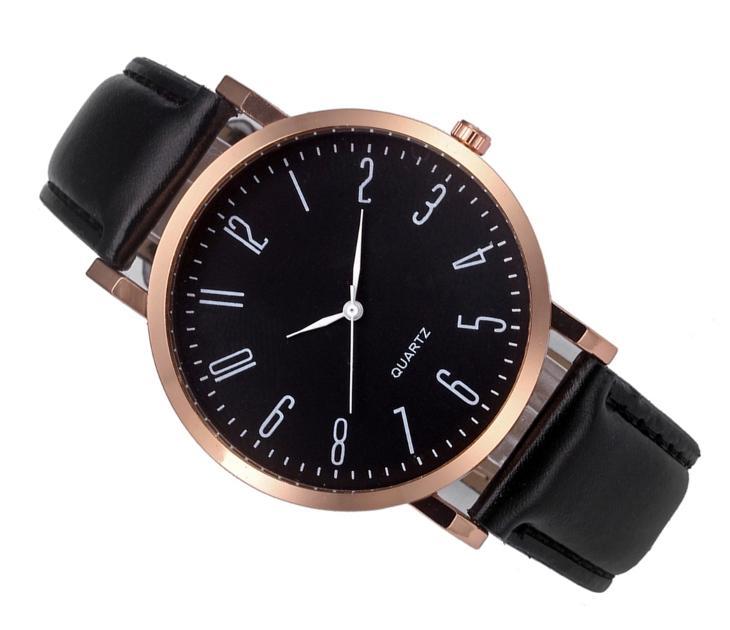 Luxusní dámské hodinky Geneva Platinum čisla - černe  fb6ed893b4