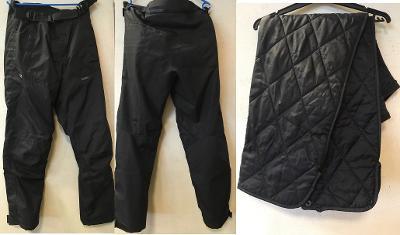 Nové moto kalhoty Uvex s protektory a zimní vložkou.