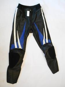 Kožené kalhoty vel.M , chrániče kolen, suché zipy na slidery