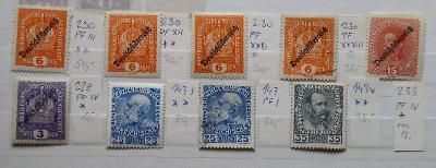 RAKOUSKO 1908-18 CENNÉ DESKOVÉ VADY SVĚŽÍ* RAZ. KATALOG MIN. 95 EURO!!