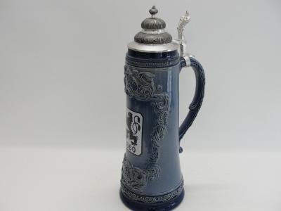 Veliký, keramický pivní korbel 2l, Mnichov Munchen 1860