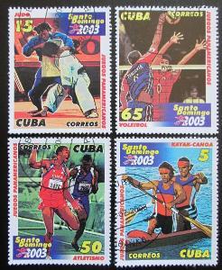 Kuba 2003 Pan-americké hry Mi# 4526-29 0603