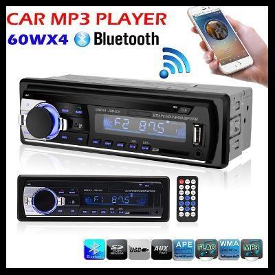 AUTORÁDIO RÁDIO 1DIN MP3 BLUETOOTH USB SD/MMC AUX LCD DÁLKOVÝ OVLADAČ