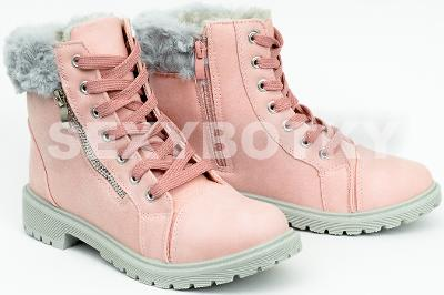 Zimní světle růžové farmářky vel. 35 - SKLADEM ČERNÉ f6b4bc5751
