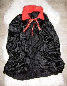 karneval maškarní kostým široký plášť hrabě drákula délka 72cm