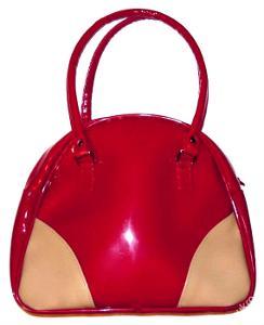 Krásná lakovaná dívčí kabelka 27 x 11 x 22 cm