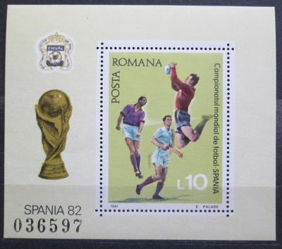 Rumunsko 1981 MS ve fotbale Mi# Block 184 0976