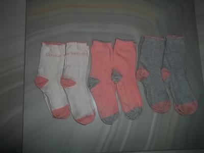 Dívčí ponožky 35/38*****6 páru ***