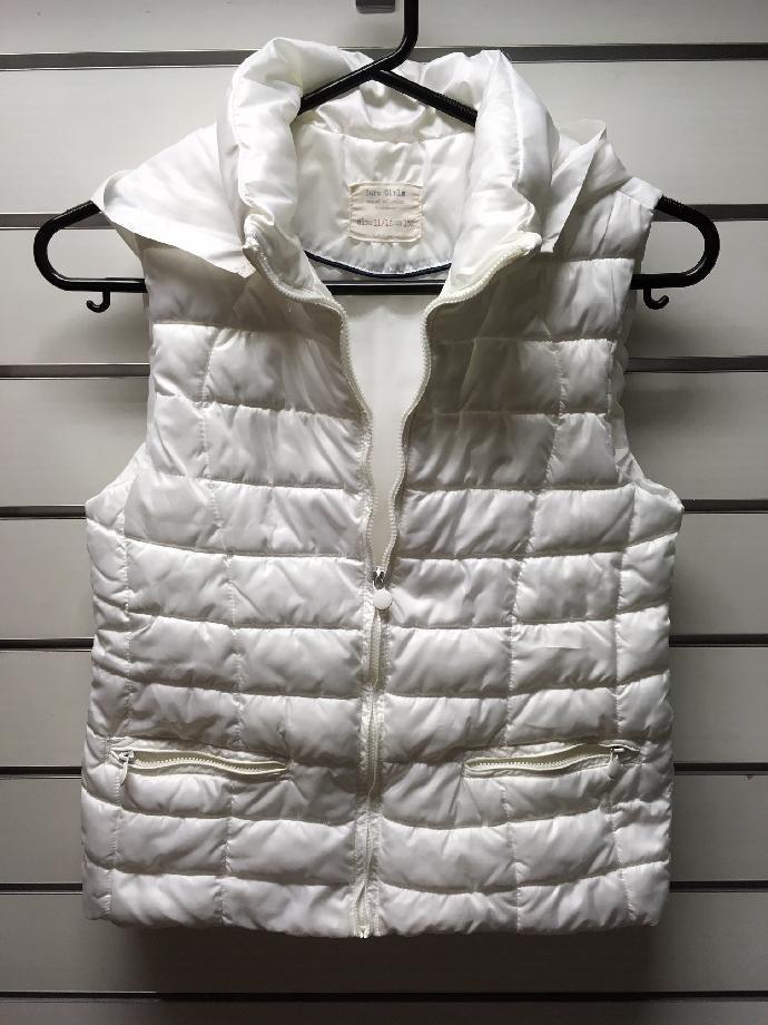 ebec8ed672 dívčí vesta Zara Kids velikost 152cm barva bílá