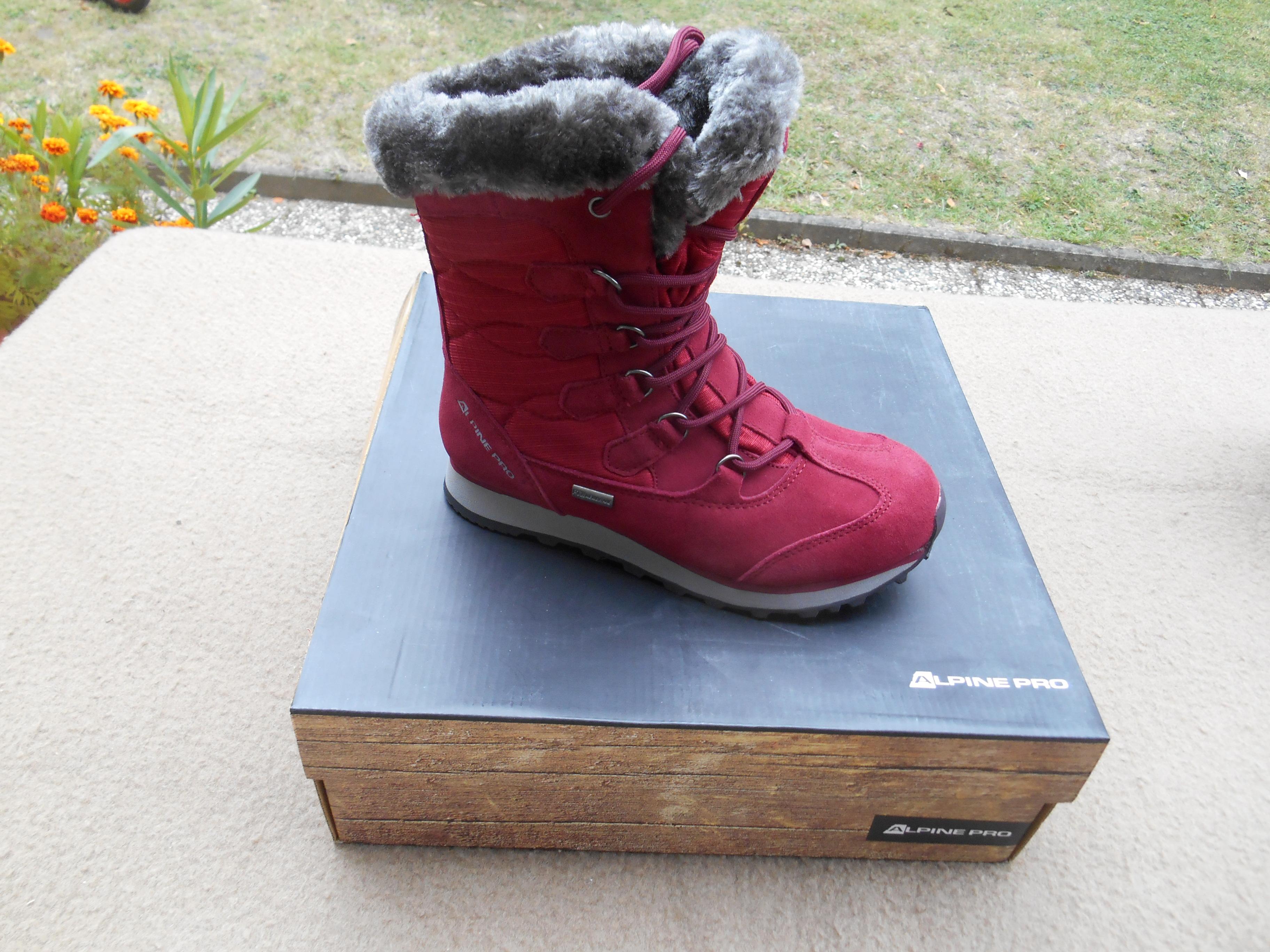 Nové zimní kožené boty zn.  ALPINE - vel. 36  28629416a9