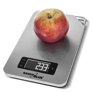 DIGITÁLNÍ KUCHYŇSKÁ VÁHA střibrná INOX LCD časovač do 5 kg