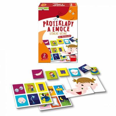 Stolní hra Lišácké učení - Protiklady a emoce 2 hry s angličtinou