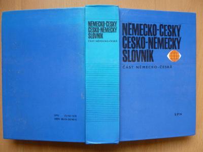 Německo-český / česko-německý slovník - část německo-česká - SPN 1991