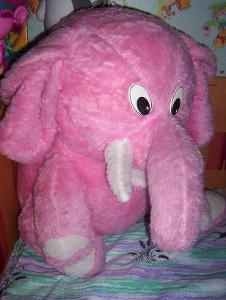 Slon velký plyšový