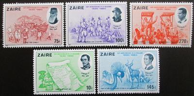 Zair 1980 Nezávislost Belgie, 150. výročí Mi# 689-93 Kat 11€ 0996B