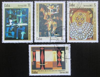 Kuba 2003 Umění Mi# 4496-99 0603