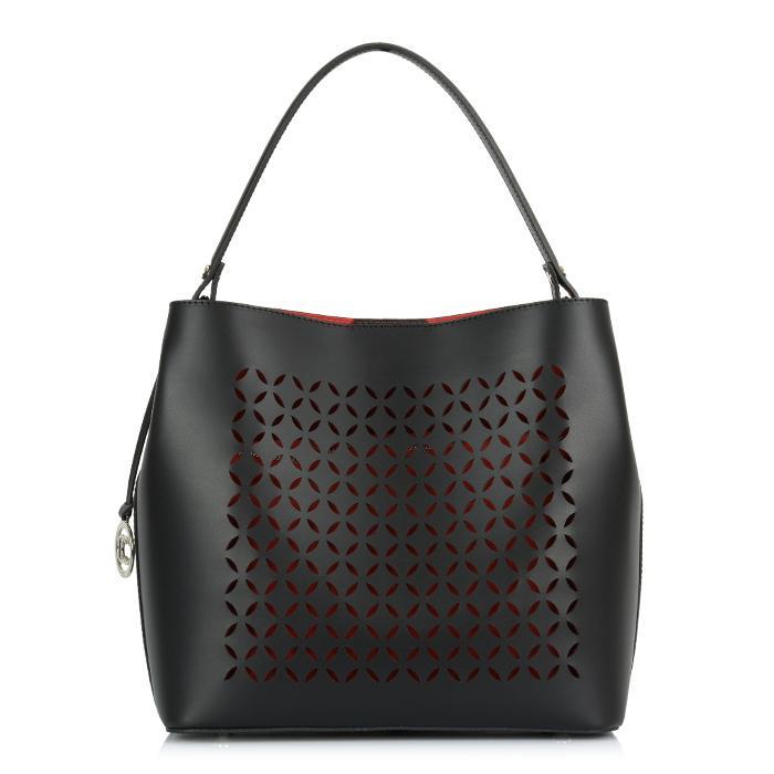 1924a68e2a Luxusní Italská Kožená Kabelka Shopper Bag Loccati - černá