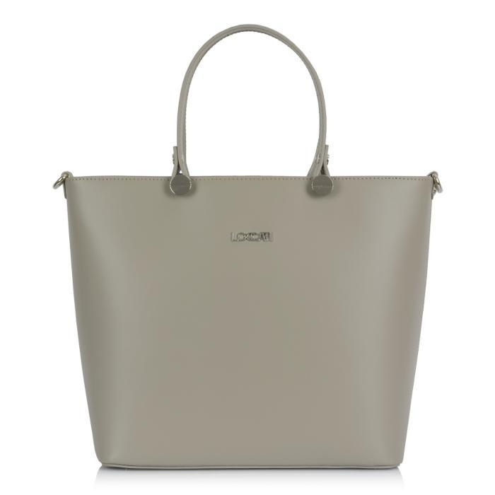 Luxusní Italská Kožená Kabelka Shopper Bag Loccati - béžová  bb6abb399af