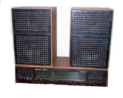 Radio příjímač Tesla Soprán 635A + 2x repro