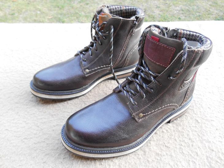 a845875e98e Nové zimní kožené boty zn.