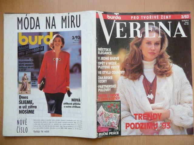4fd1a7f425ac Časopis - BURDA - VERENA - číslo 3. z roku 1993