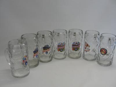 7 ks tuplák, pivní korbel, sklenice, Oktoberfest, pivo