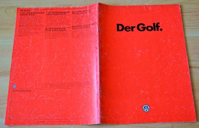 VOLKSWAGEN GOLF II (1985) - DOBOVÝ PROSPEKT, FORMÁT A4