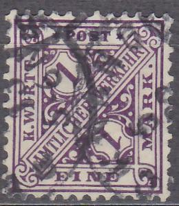 WÜRTTEMBERG 1906 - STARONĚMECKÝ STÁT Mi.: 236 - ražená