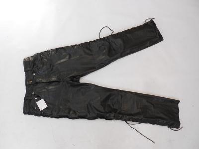 Kožené šněrovací kalhoty vel. 29 - pas: 76 cm