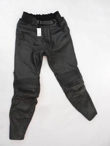 Kožené kalhoty vel. 50 - obvod pasu: 82 cm výztuhy boky