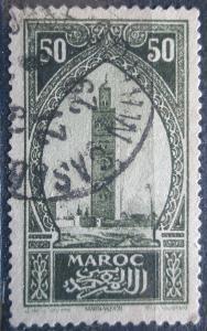 Francouzské Maroko 1927 Věž v Marakéši Mi# 65 1069